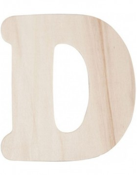 letter D 11 cm made of wood