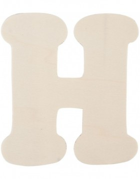 letter H 11 cm made of wood
