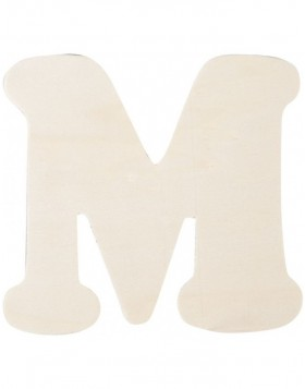 letter M 11 cm made of wood