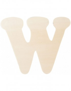 letter W 11 cm made of wood