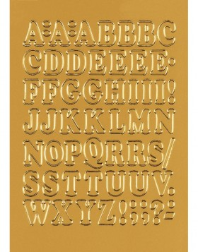 Letters 12mm A-Z  film gold 1 sheet
