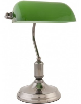 Office table lamp made of glass green, nickel 28 x 40 cm