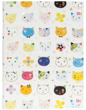 CATS WHITE Notizbuch DIN A5