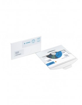 CD-Postal Pack envelope with buckle white 22x12.4cm Ka