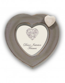 Cannes Heart frame gray 10x10cm