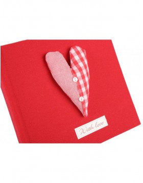 Clayre & Eef 6PA0027R Einsteckalbum WITH LOVE in rot 100...