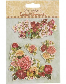 Clayre Eef Scrapbook Sticker Blumen