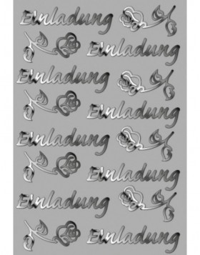Creative filigree stickers Einladung