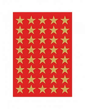 DECOR stickers stars 13mm gold foil 3 sheets