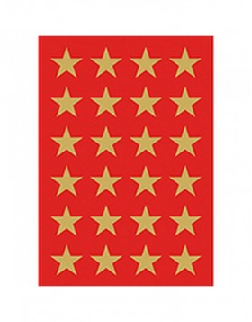 DECOR stickers stars 15mm gold foil 3 sheets