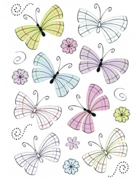DECOR Modern butterflies, foil
