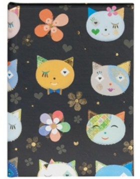 DIN A6 Notizbuch CATS BLACK