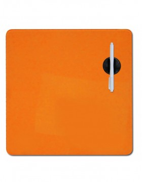 DRY ERASE Magnet Glastafel 38x38 cm in orange