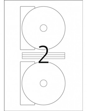 DVD/Blu-ray labels white Ø 116 A4 LaserCopy 50 pcs.
