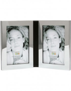 Silver double frame Malai 10x15 cm and 13x18 cm