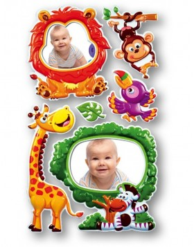 Decorative photo frame adhesive Safari