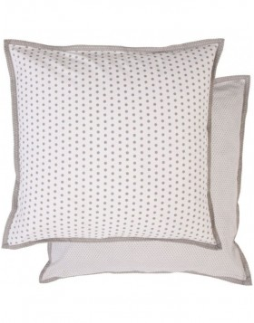 40x40 cm Dotted pillowcase grey
