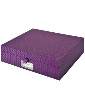 Purple document box Sirio