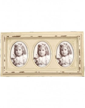 Triple frame 8x6 cm photos metal frame
