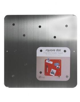 Stainless steel magnetic wall 30 cm square SQUARE DOT