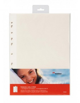 refill sheets - photo mounting board with pergamin white