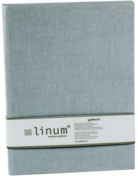Notebook A4 ruled Linum gray