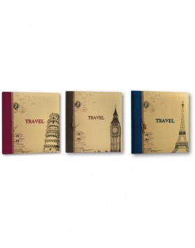 slip-in photo album TRAVEL 200 photos 11x16 cm