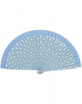 FAW0001 Clayre Eef - paper fan light blue