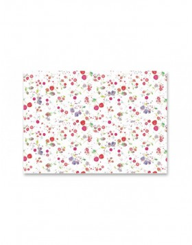 wrapping paper FRUITS WHITE 50x70 cm