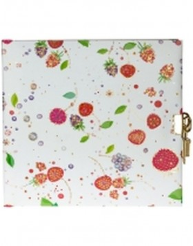 FRUITS white diary for girls