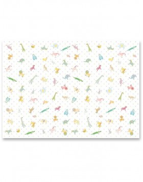 wrapping paper FUNNY ANIMALS 50x70 cm