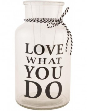 Flasche Love Waht You Do � 15x26 cm