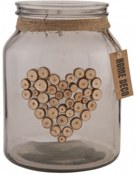 Bottle � 16x20 cm gray heart