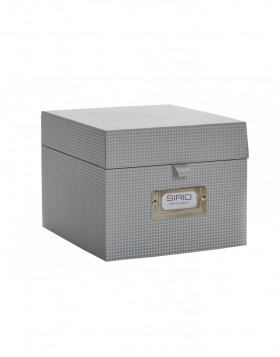 Photo/ CD box Sirio in silver-grey