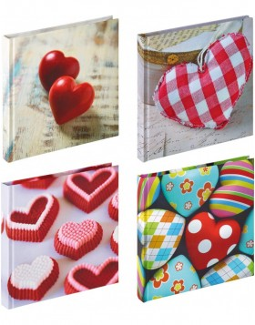 Photo Album Feeling, 18x18 cm, 4 Heart Designs assorted