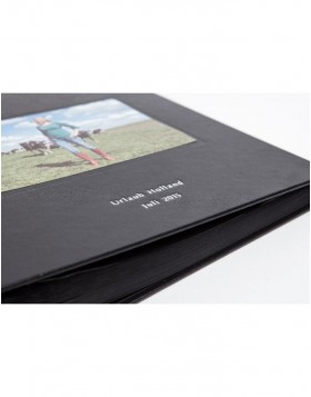 Personalised photo album Kolara black black pages