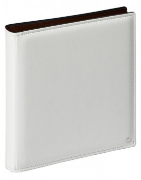 photo album PREMIUM 34,5x43 cm white - black sheets
