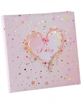 Photo Album Pink Heart 25x25 cm