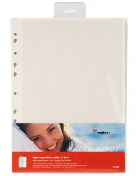 self-adhesive refill sheets -white