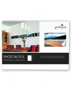 photo block white 10x15 cm