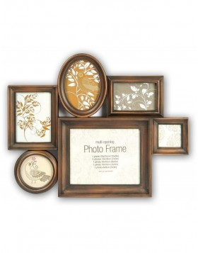 photo gallerie frame  BRONZE 5 for 7 pictures