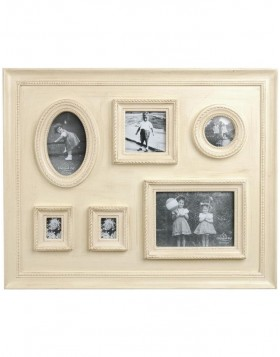 Photo frames white 59x47 cm 6 photos