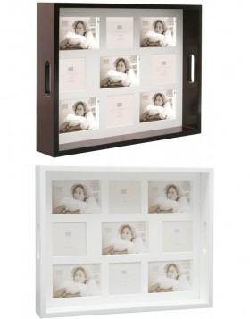 Photo tray Deoli brown and white