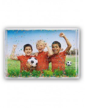 football plastic photo frame 10x15 cm