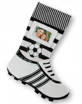 Soccer stockings black & white with frame
