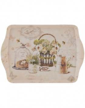 GARDEN dinner tray from Clayre Eef 30x22 cm