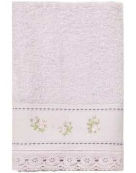guest towel light aubergine TOW0005SLA Clayre Eef
