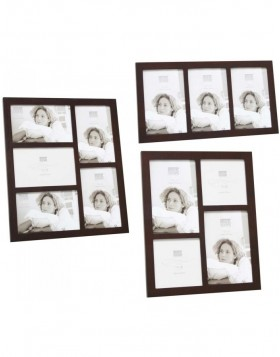Gallery Picture Frame NASIR dark brown 3 to 5 photos