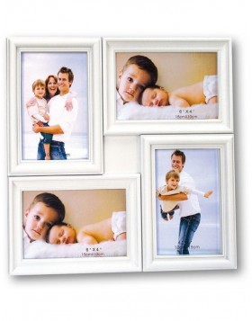 MALAGA gallery frame 4 photos 10x15 cm white