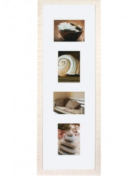 Gallery Frame Driftwood 4 photos 13x18 cm white